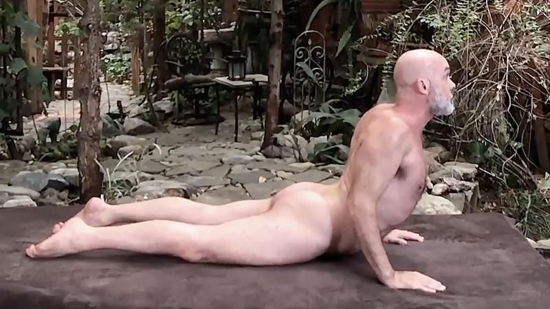 Naked yoga for better sex